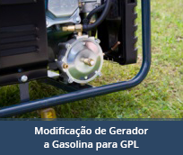 Modificação de Gerador a Gasolina para GPL (exportados para Cabo Verde)